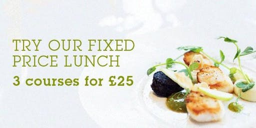 3 course Summer Fixed price menu & drink & competition entry £25pp