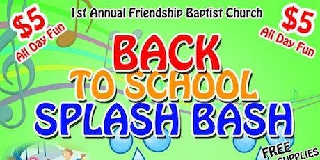 Back to School Splash Bash tickets