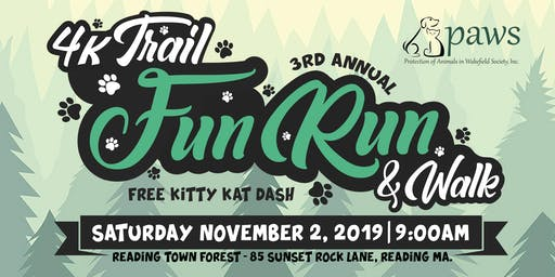 3rd Annual PAWS on the Trail 4K Fun Run/Walk and Kitty Kat Dash