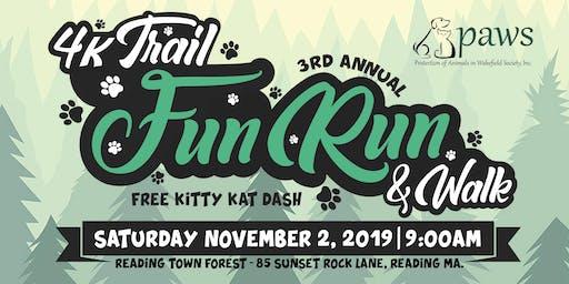 3rd Annual PAWS on the Trail 4K Fun Run/Walk and Kitty Kat Dash