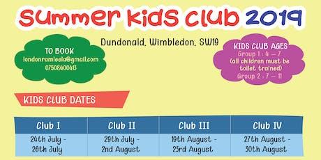 Kids Summer Club  tickets