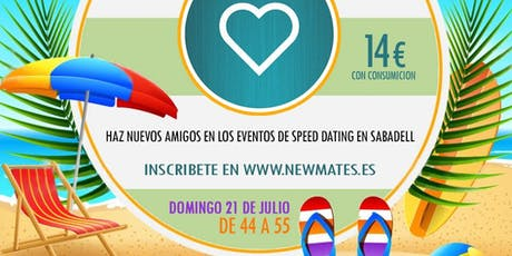 Speed dating en Sabadell - 45 a 55 entradas