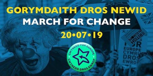 March for Change  - 20th July 2019  - Dwyfor Meirionnydd Coach to London