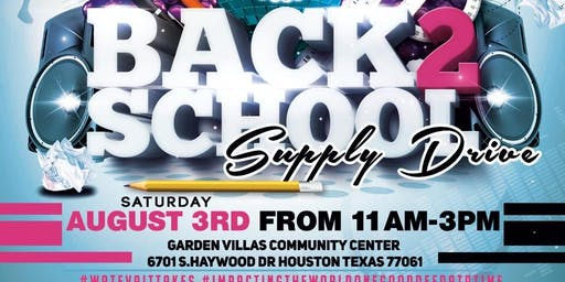 Real Talk With Youth and Back 2 School Supply Drive