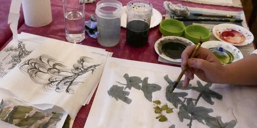 Chinese brush painting with Irene Sanderson