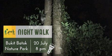 Night Walk: Bukit Batok Nature Park tickets