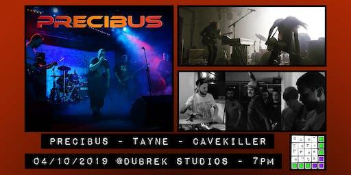 Precibus, Tayne and CaveKiller at Dubrek Studios