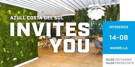 Azull infosessie Marbella  woe 14 augustus - 10.30u entradas