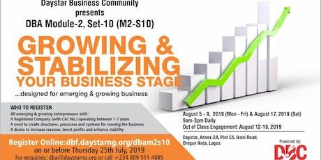 DAYSTAR BUSINESS ACADEMY (DBA)MODULE-2, SET-10 (M2-S10) tickets