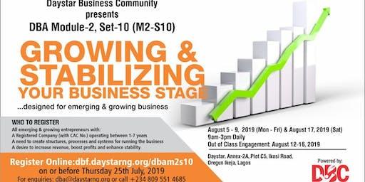 DAYSTAR BUSINESS ACADEMY (DBA)MODULE-2, SET-10 (M2-S10)