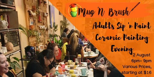 Adults BYO Ceramic Painting evening