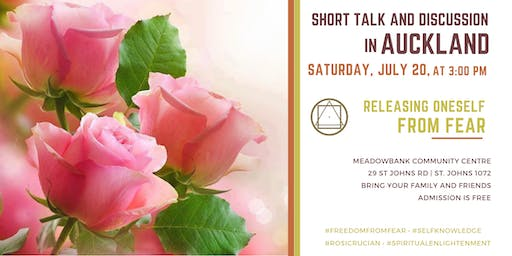 "Short talk and discussion in Auckland - ""Releasing oneself from fear"""