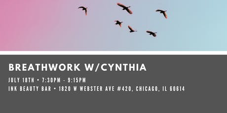 Breathwork w/Cynthia at Ink Beauty Bar (Bucktown) tickets