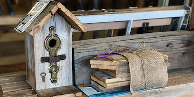 Build Your Own Rustic Birdhouse With Vintage Materials!