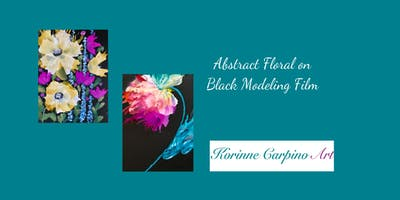 Alcohol Ink Art Workshop - Florals on Black Modeling Film