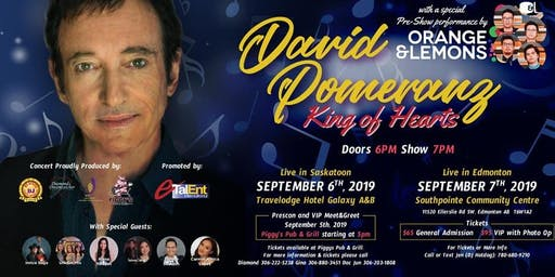David Pomeranz LIVE 'N EDMONTON  W/ Orange lemon PRE SPECIAL SHOW