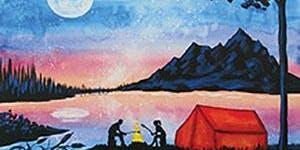 Paint and Sip Tea Tonasket: Lakeside Camping