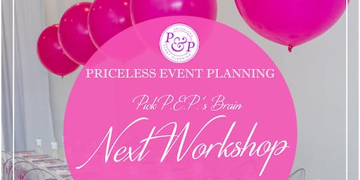 October 2019 PEP'S OFFICIAL EVENT PLANNING & DESIGN WORKSHOP