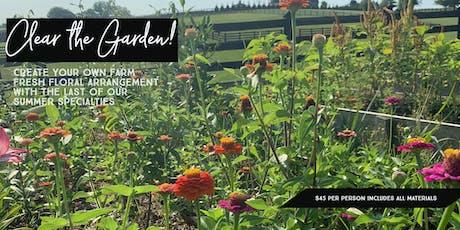 Clear the Garden! tickets