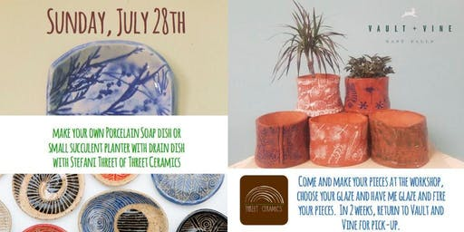 Porcelain Soap Dish Workshop with Stefani from Threet Ceramics