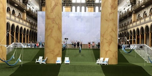 Yoga on the LAWN at the National Building Museum