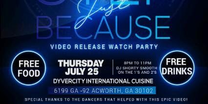 STACII ADAMS STEP JUST BECAUSE VIDEO RELEASE WATCH PARTY