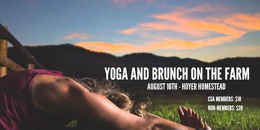 Yoga and Brunch on the Farm