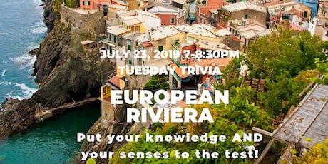 Blind Tasting & Trivia Challenge – European Riviera! tickets