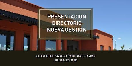 Presentación del directorio nueva gestión - Chacras de la reserva entradas