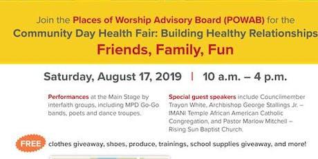 DC Health (HAHSTA)Community Day Health and Wellness Fair tickets