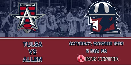 Allen Americans at Tulsa Oilers | Opening Weekend of the 2019-20 Season tickets