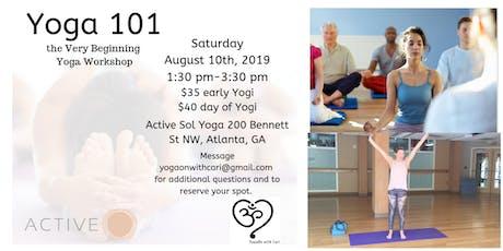 Yoga 101, the Very Beginning Yoga Workshop tickets