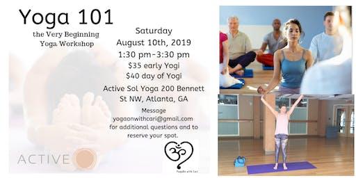 Yoga 101, the Very Beginning Yoga Workshop