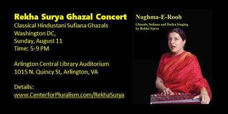Rekha Surya's Classical Ghazal Program - Washington DC tickets