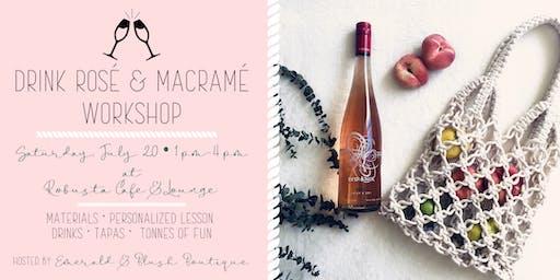 Drink Rosé and Macramé Workshop