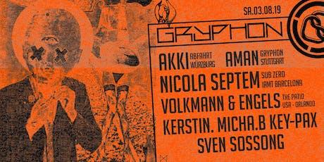 Gryphon /w Akki, Aman, Volkmann & Engels, Nicola Septem Tickets