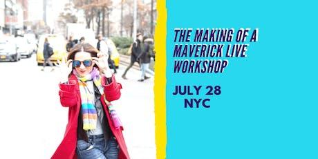 Making of A Maverick Live Workshop  tickets