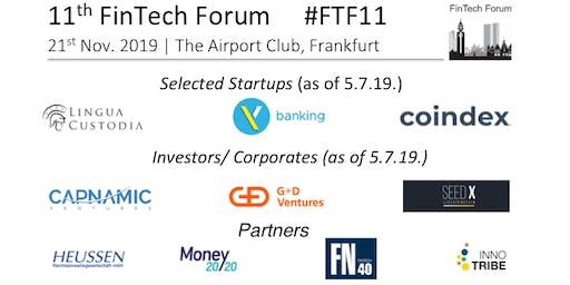11th FinTech Forum   21st Nov. 2019