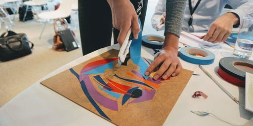 Tape Art Workshop @Lucky's 27th July 2019