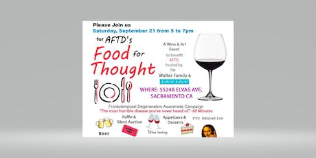 AFTD's Food for Thought tickets