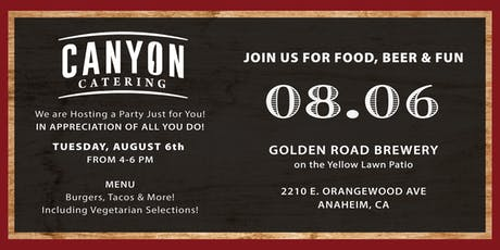 Canyon Catering's Employee Appreciation Party tickets