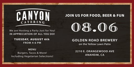 Canyon Catering's Employee Appreciation Party