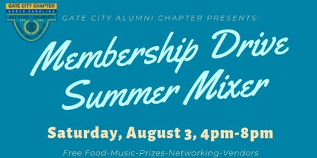 Gate City Alumni Chapter Membership Drive Summer Mixer tickets