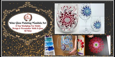 Wine Glass Painting Mandala Art & Personalized Glass Charm Ornament -Workshop For Adults