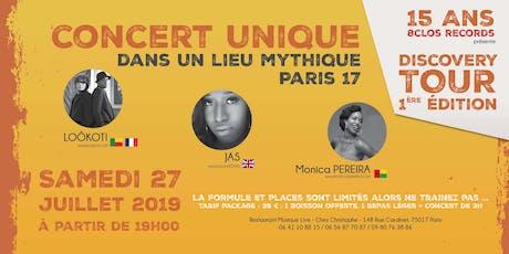 15ans 8ClosMusic - DISCOVERY TOUR 1ere Edition billets