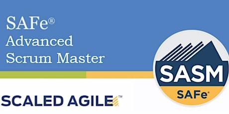 Online SAFe® Advanced Scrum Master with SASM Certification San Diego ,CA (Weekend) tickets
