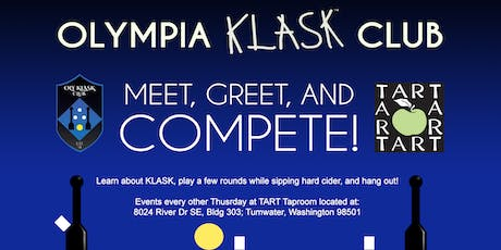 Olympia Klask Club - Meet, Greet and Compete! -- at TART Tasting Room tickets