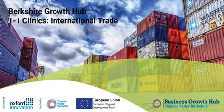Export Clinic - Growing your Business through International Trade. 10 September 2019, Thames Valley Science Park tickets