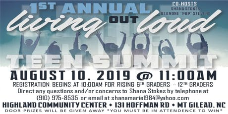 Living OUT Loud: Teen Summit tickets