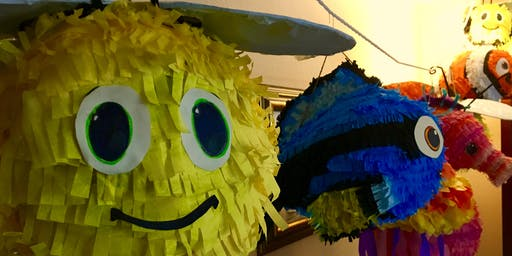 Piñata decorating at Alberta St. last Thursday
